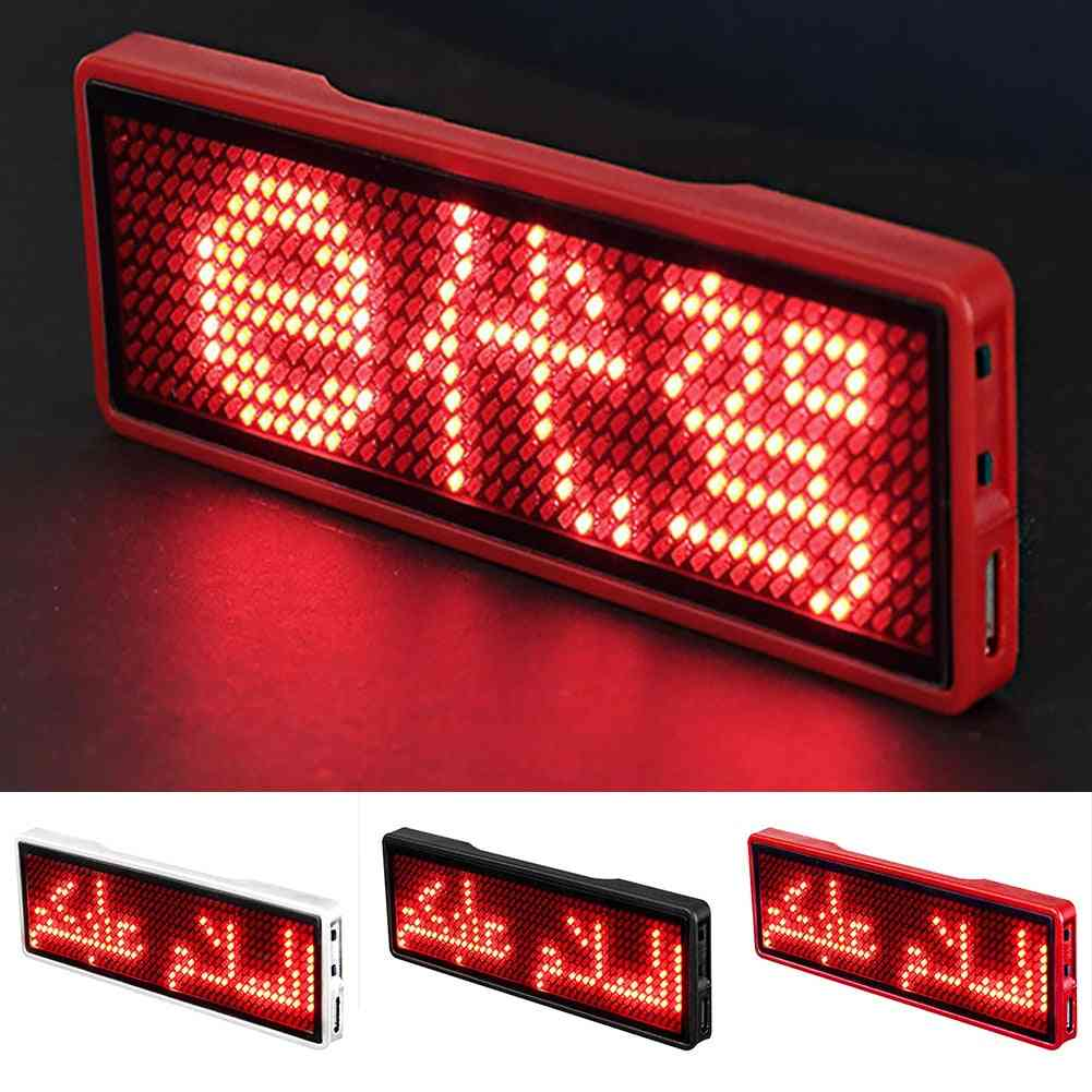 Led Name Badge For Business, Rechargeable Card Screen