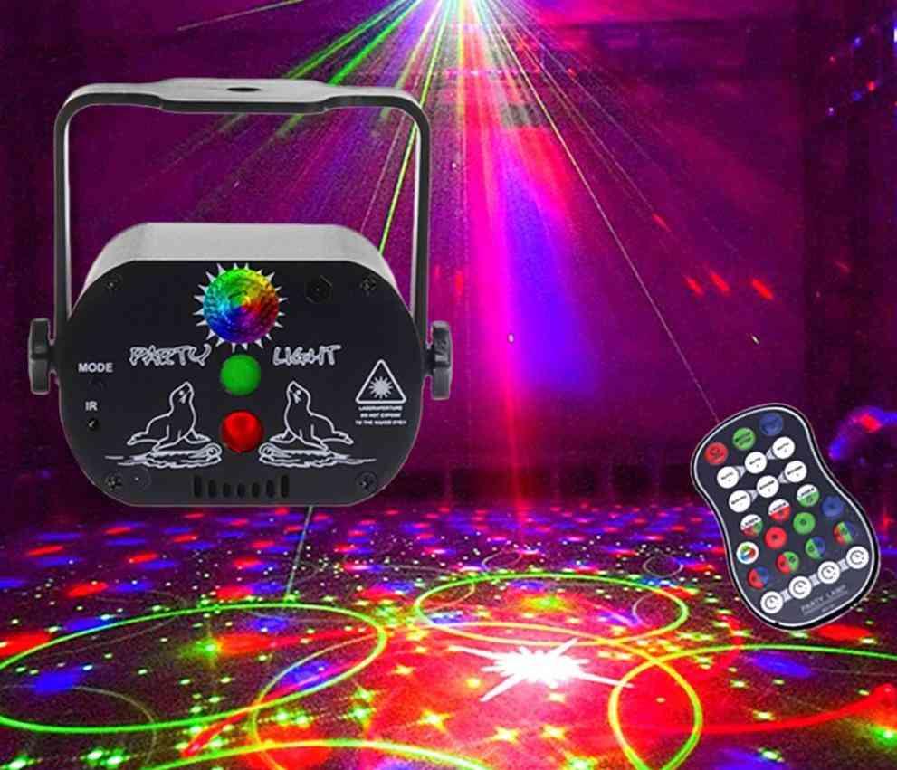 Mini Usb Charge Dj Disco Light Strobe-laser Projector Lamp
