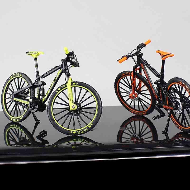 1:10 Mini Diecast Alloy Bicycle Model -metal Racing Finger Mountain Bike