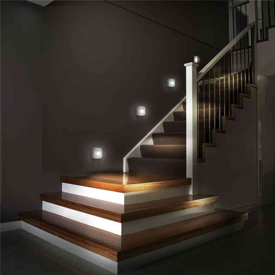 Led Sensor Night Light Dual Induction Pir Infrared Motion Sensor Lamp, Magnetic Infrared Wall Cabinet Stairs Light