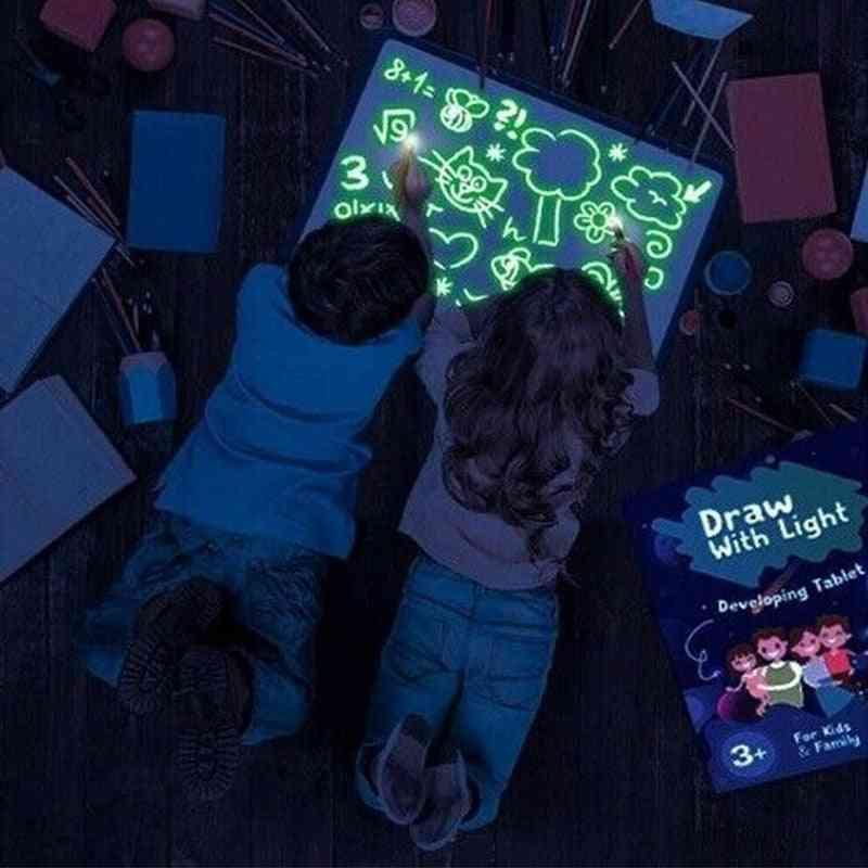 Draw With Light, Fun Children's Luminous Drawing Board