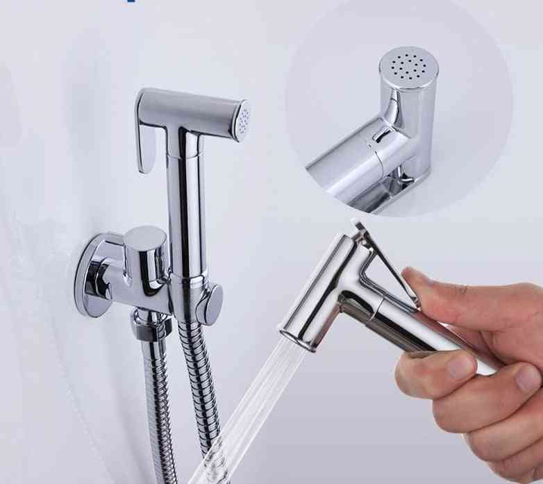 Chrome Finished Bidet Faucet-toilet Water Shower
