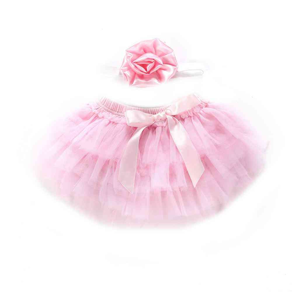 Infant Newborn Tutu Princess Bow Tulle Ball Gown Skirts