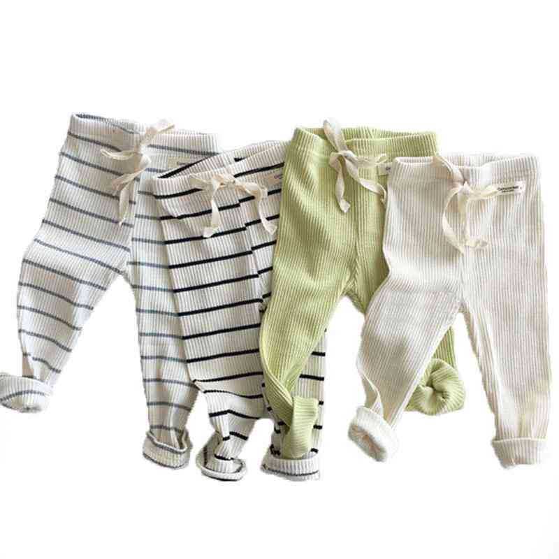 Spring And Autumn,  Ribbed Leggings - / Cotton Big Casual Trousers