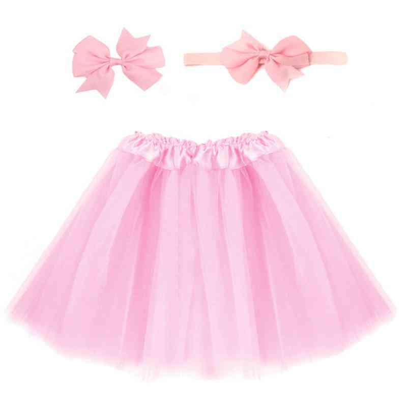 Hot Newborn Infant Sweet Cute Tutu Skirt & Headband Hair Clip Set Photography Props Outfit Clothing