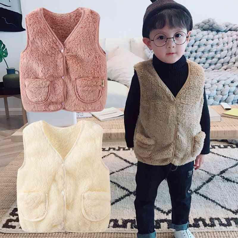 V-neck Winter Warm-waistcoat Outwear