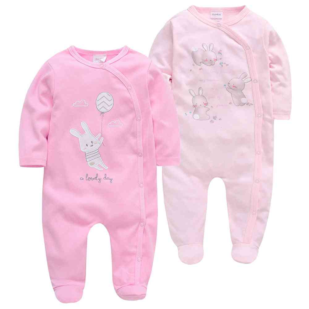 Baby Rompers Girl Clothes - Full Sleeve Cotton Cartoon Print Overalls Newborn