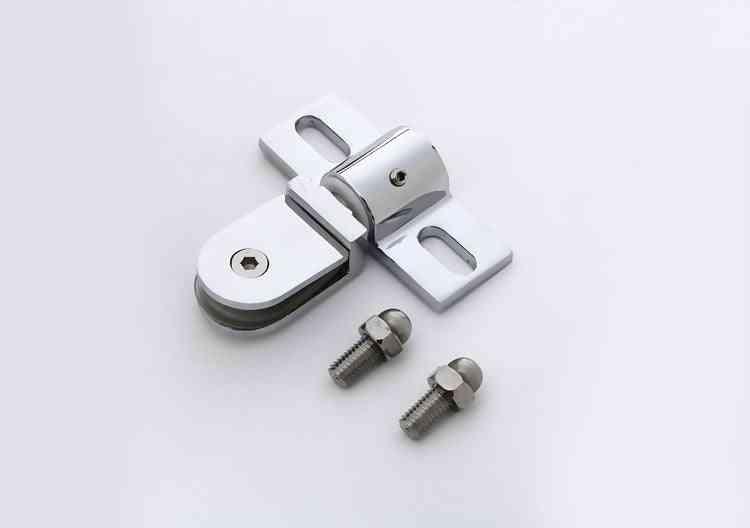 2pcs Bathroom Glass Door Clip/clamp/hinge