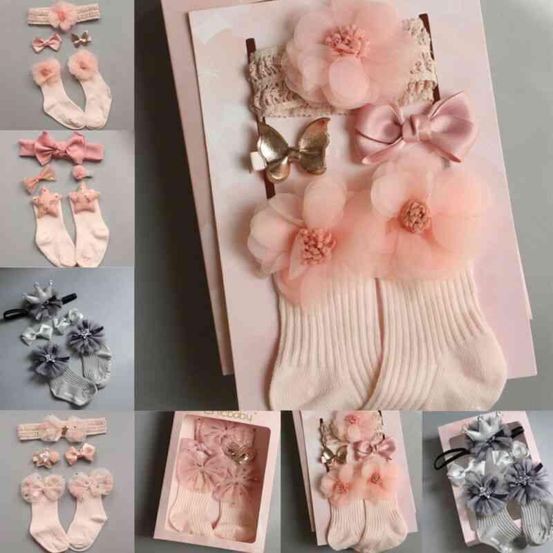 Newborn Princess Anti Slip Socks -with Lace Ruffle