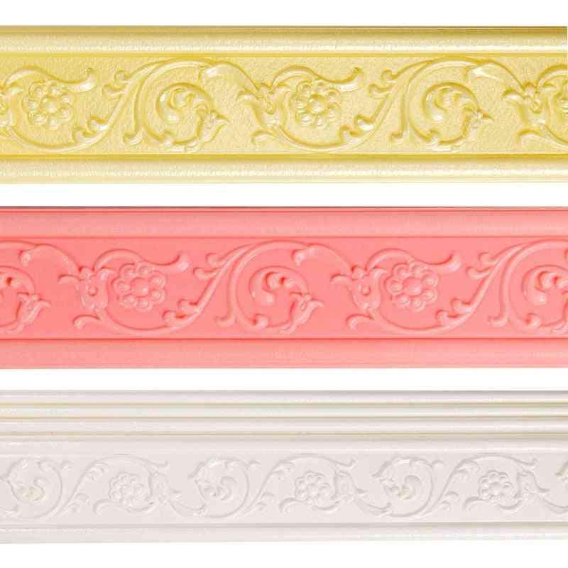 3d Home Interior Decoration Materials Foam - Waterproof, Self Adhesive Wallpaper Border Sticker
