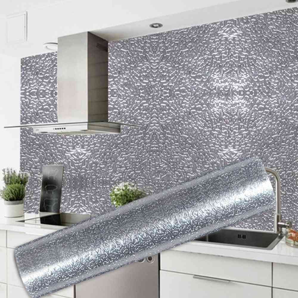 Kitchen Wall Stove, Aluminum Foil Oil-proof Stickers