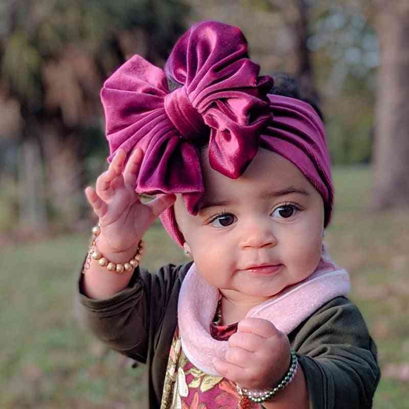 Baby Headband, Turban Big For Newborn Bow Hair