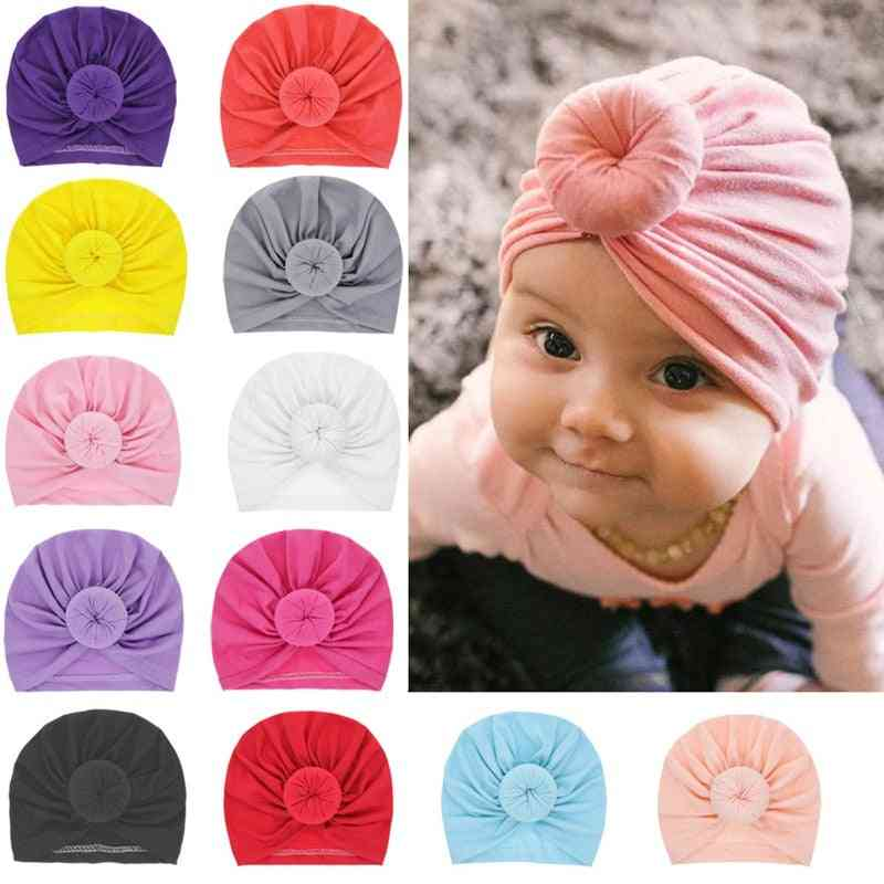 Solid Cotton, Kont Turban Style Headband For