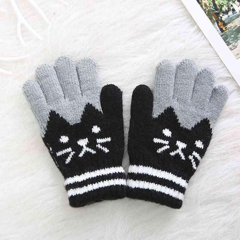 Winter Warm Kids Knitting Gloves For Baby