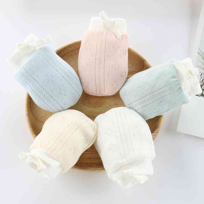 Cotton Baby Anti Scratching Gloves Mittens - Newborn Infant Protection Face Keep Finger Warm