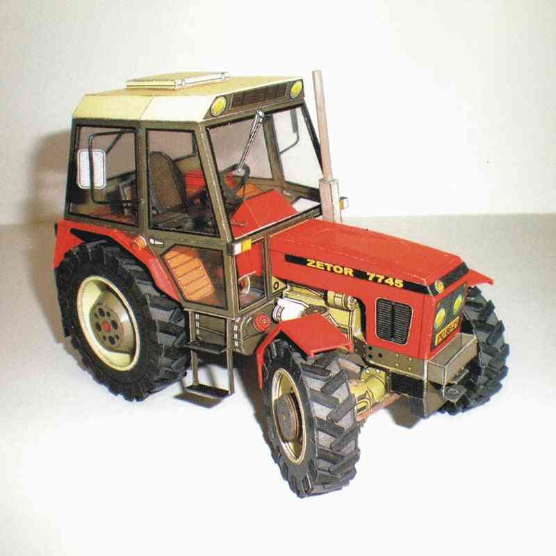 Military Tractor-diy 3d Paper Card Model-educational Toy