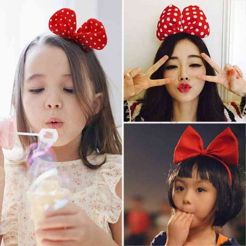 Cute Hair Side Clip Pins Snap, Spotted Bow Accessories Princess Baby Headwear