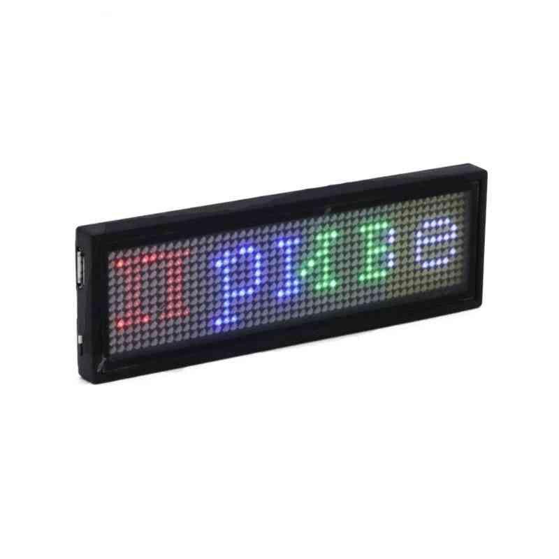 Bluetooth Programmable Rgb Led Name Badge