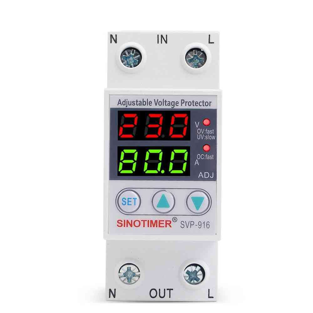 Dual Led Display Adjustable Voltage Protector With Limit Current Protection