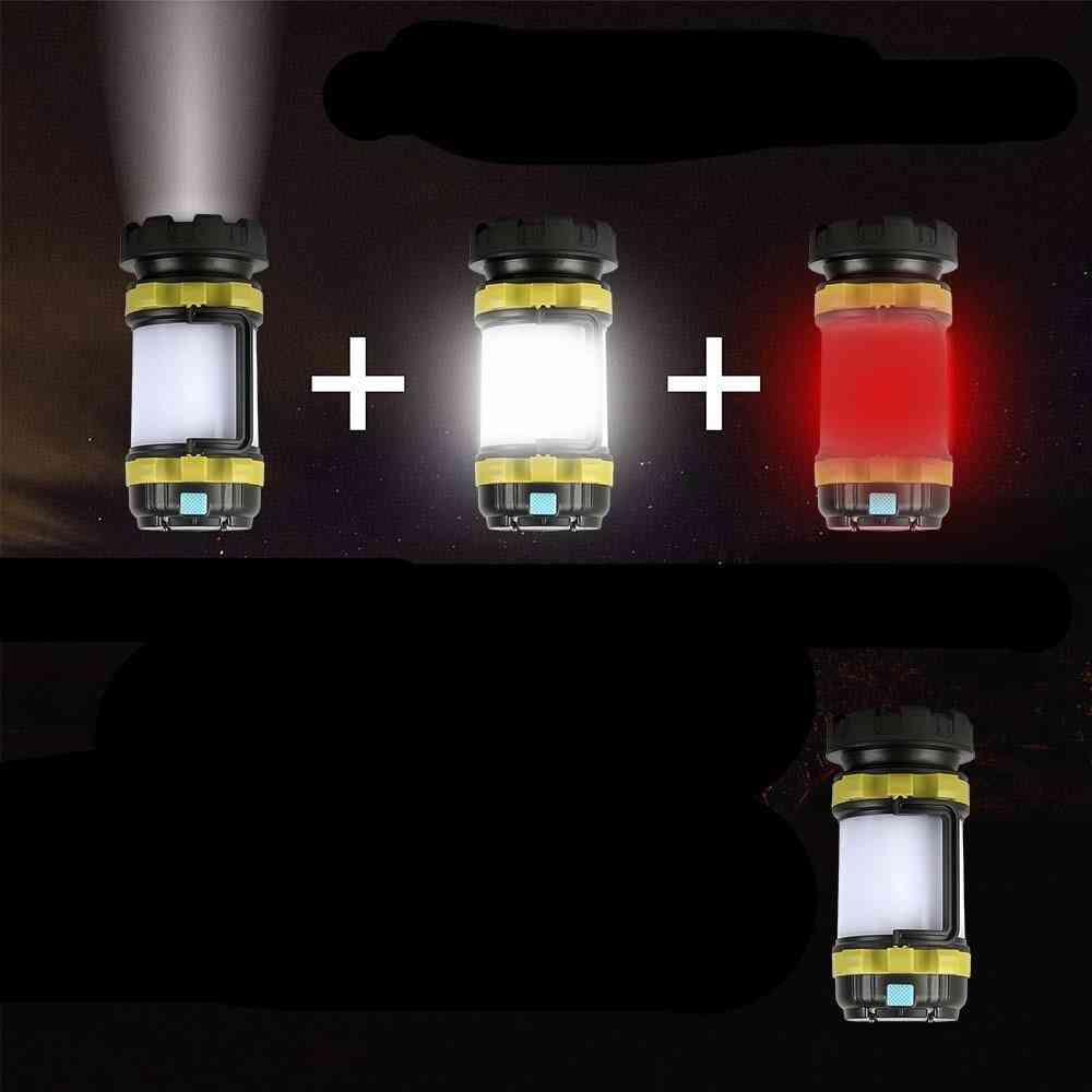 Led Camping Lamp - Usb Rechargeable Flashlight Emergency Torch