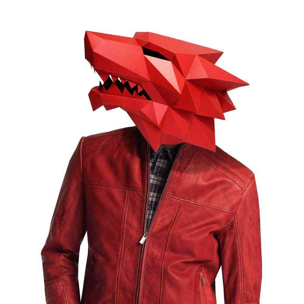 3d Werewolf Costume Cosplay Diy Paper Craft Mask