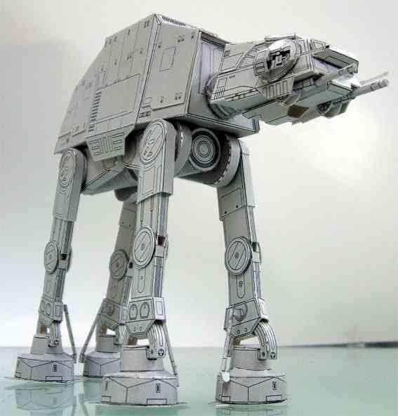 20cm All Terrain Armored Walker- 3d Model Papercraft Toy