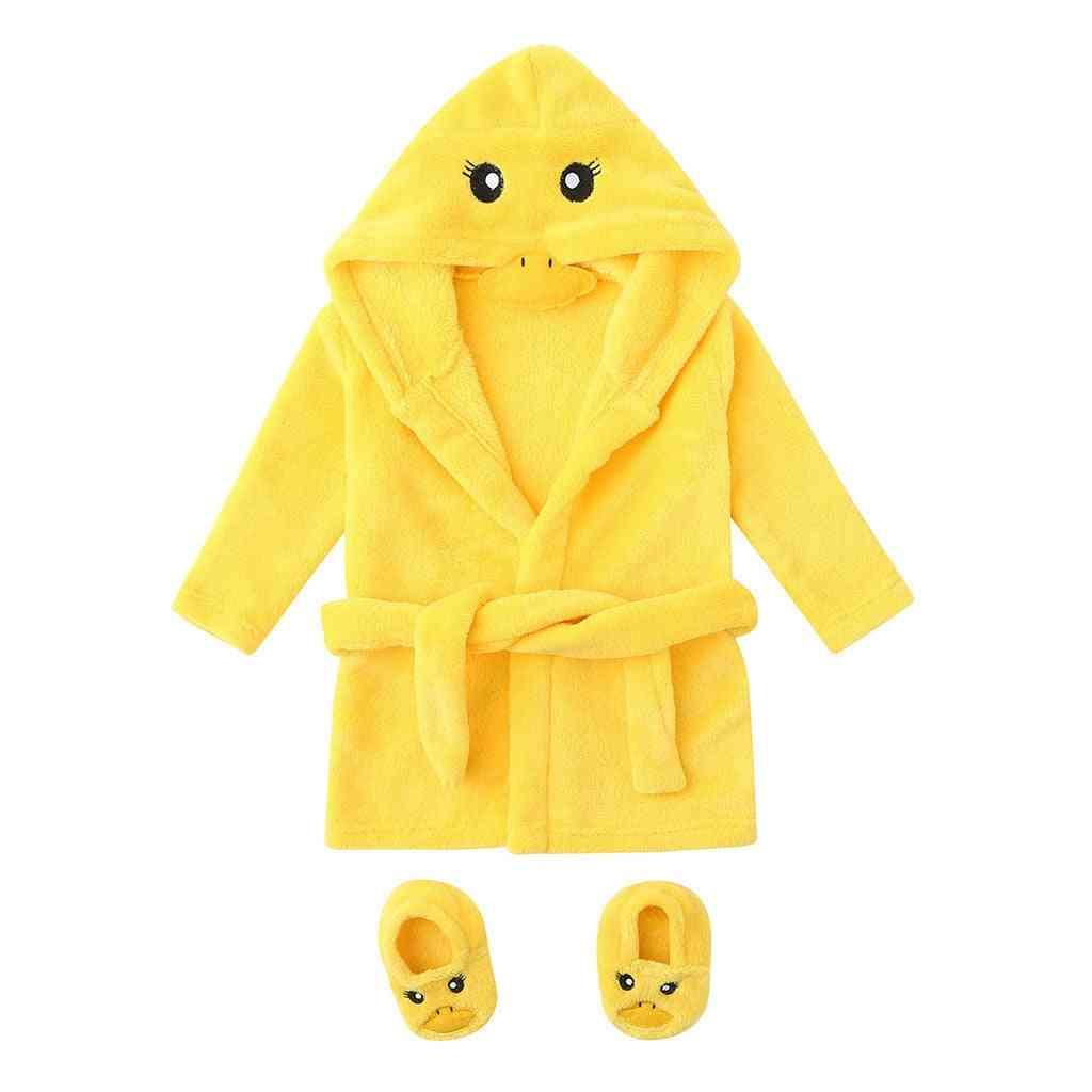 Duck Style Bathrobe For Newborn Baby