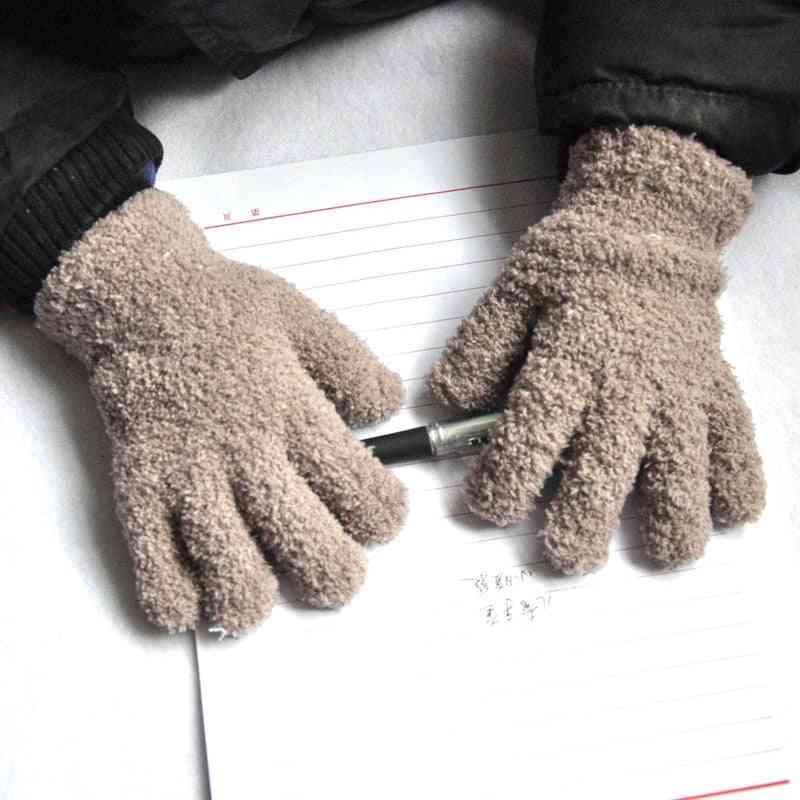 Warmom Coral Fleece Thicken - Plush Furry Full Finger Mittens Soft Gloves
