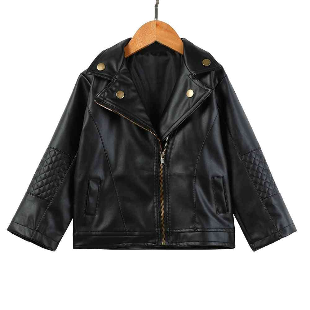 Winter Leather Zipper-short Jacket