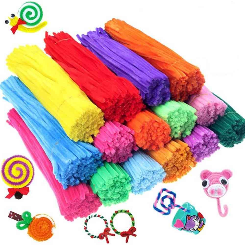 Kids Creative Colorful Diy Plush Chenille Sticks Stem Pipe Cleaner Educational