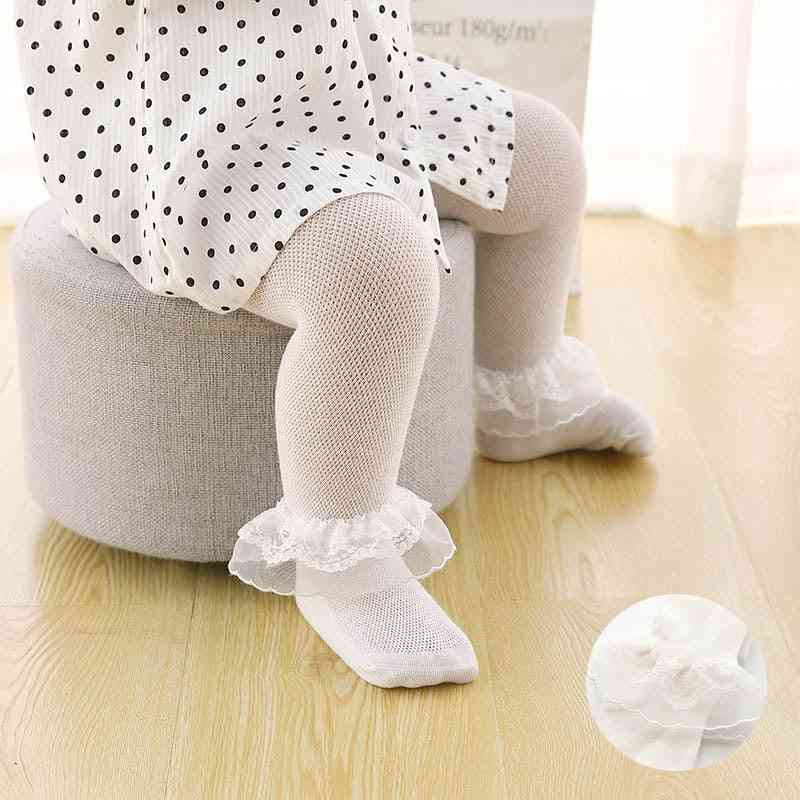 Cute Lace Flower Baby Tights For Newborn Leg Warmer Stockings