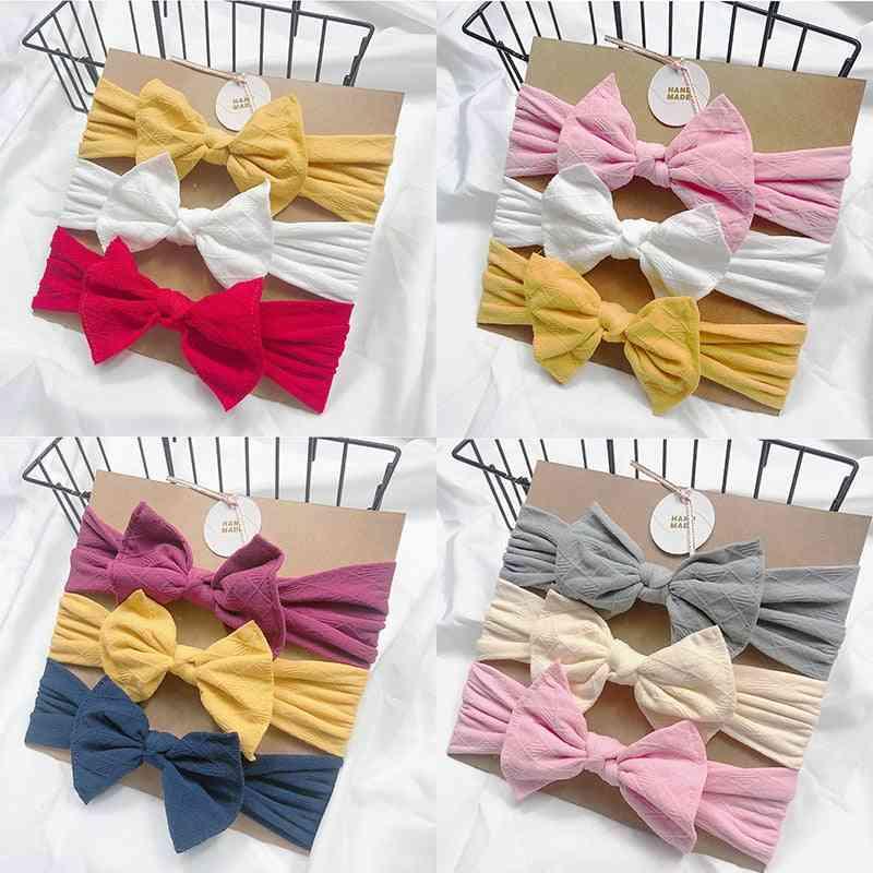 Baby Headbands For Newborn Hair Cute Bow Flower Elastic Turban Girl Accessories