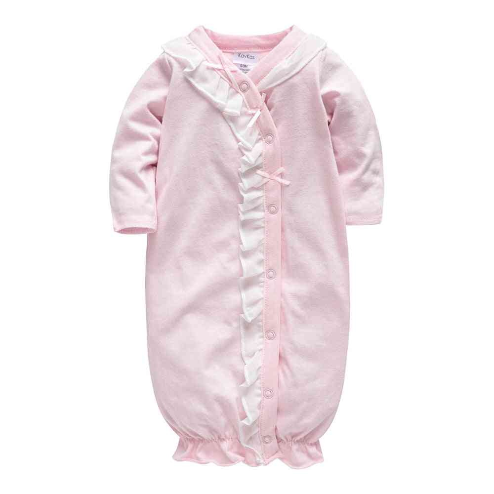 Baby Sleepwear - Full Sleeve O Neck Cotton Button Clothing Newborn Rompers