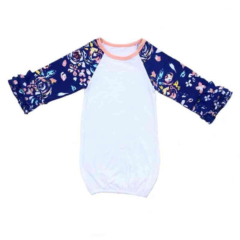 Newborn Sleep Gown - Ruffle Long Sleeve Gold Night Gowns