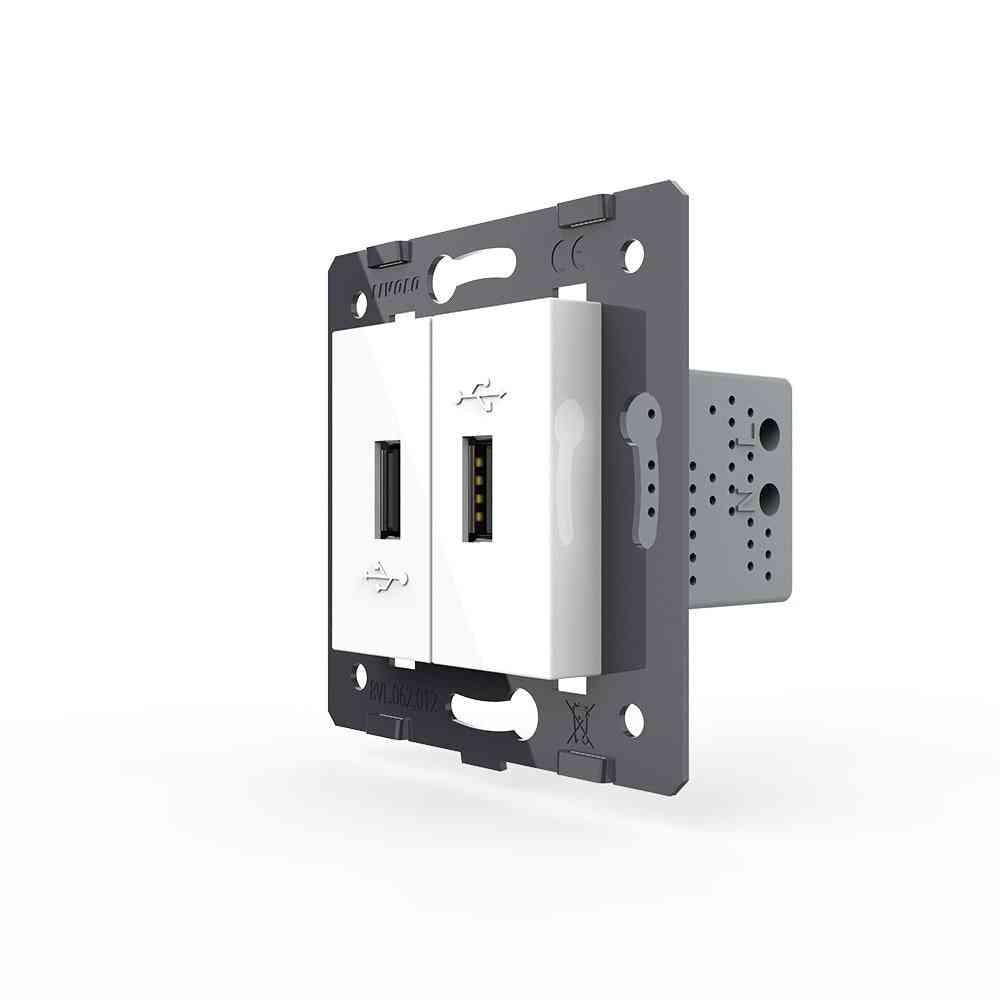 2 Gang Usb Socket And Switch -eu Standard