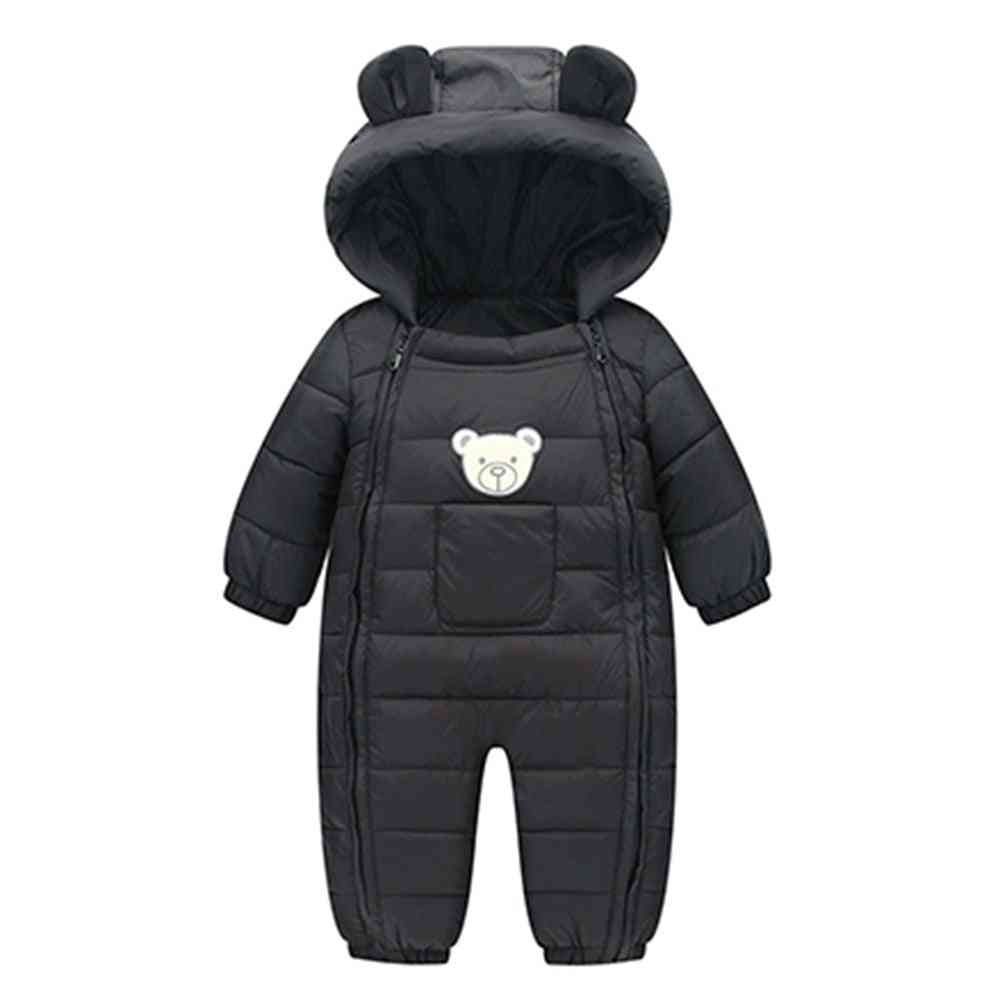 Newborn Baby Snowsuit-hooded Warm Jackets