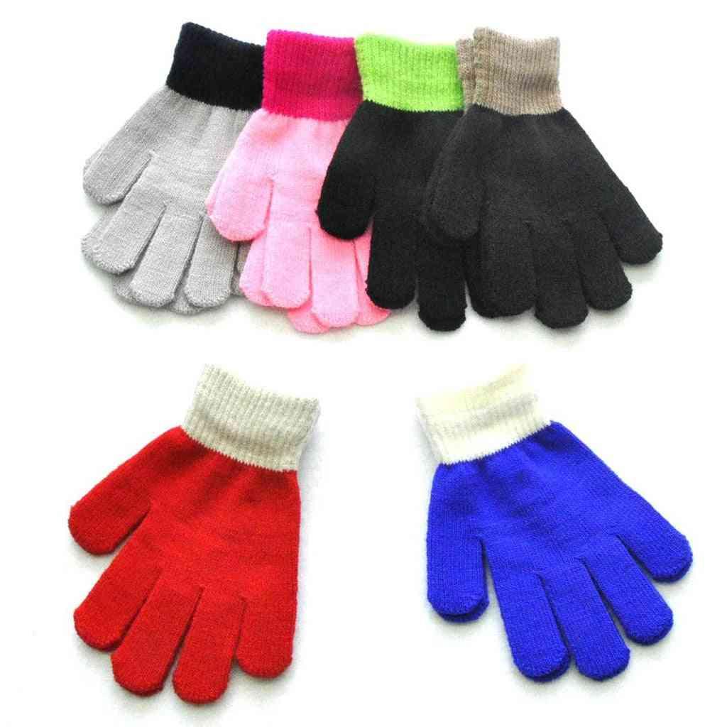 Winter Knitted, Full Finger Mittens
