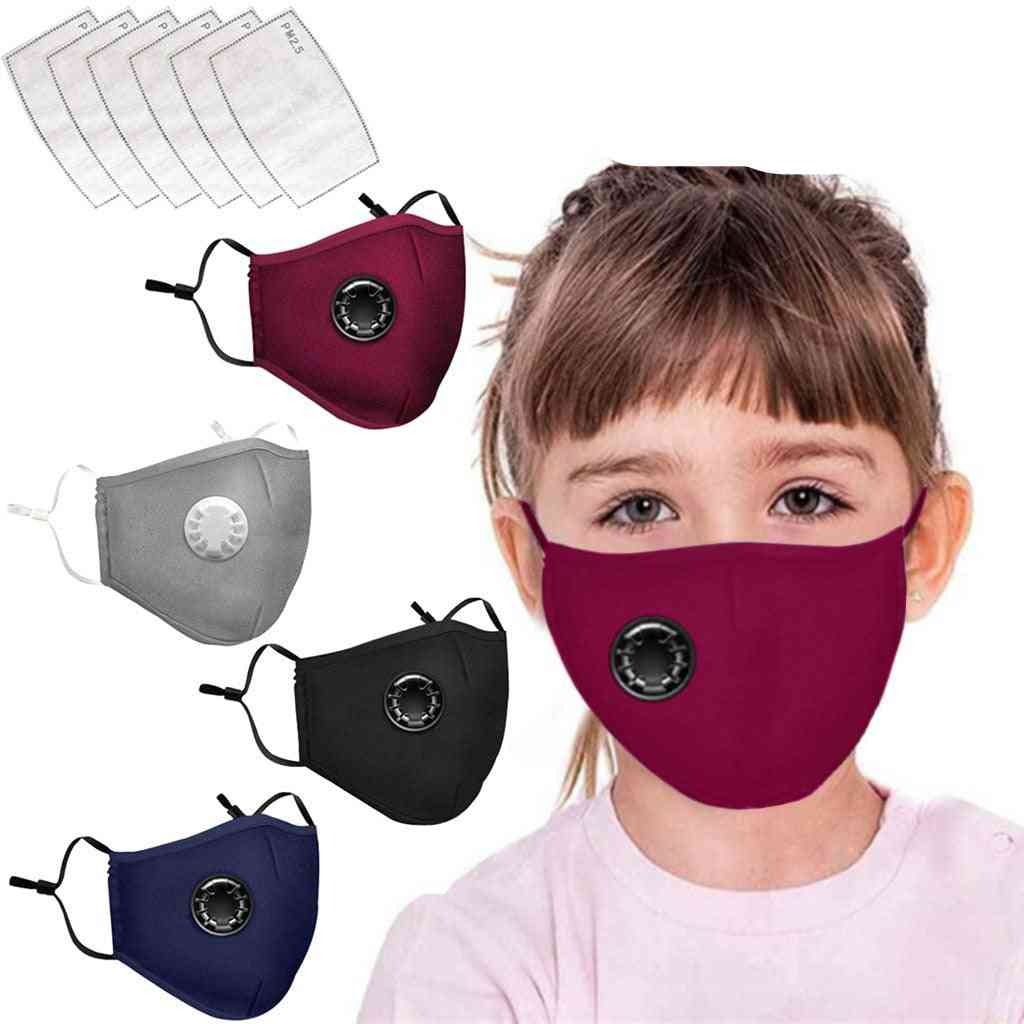 Reusable, Washable And Dust Proof Face Mask With Replaceable Active Carbon Filters