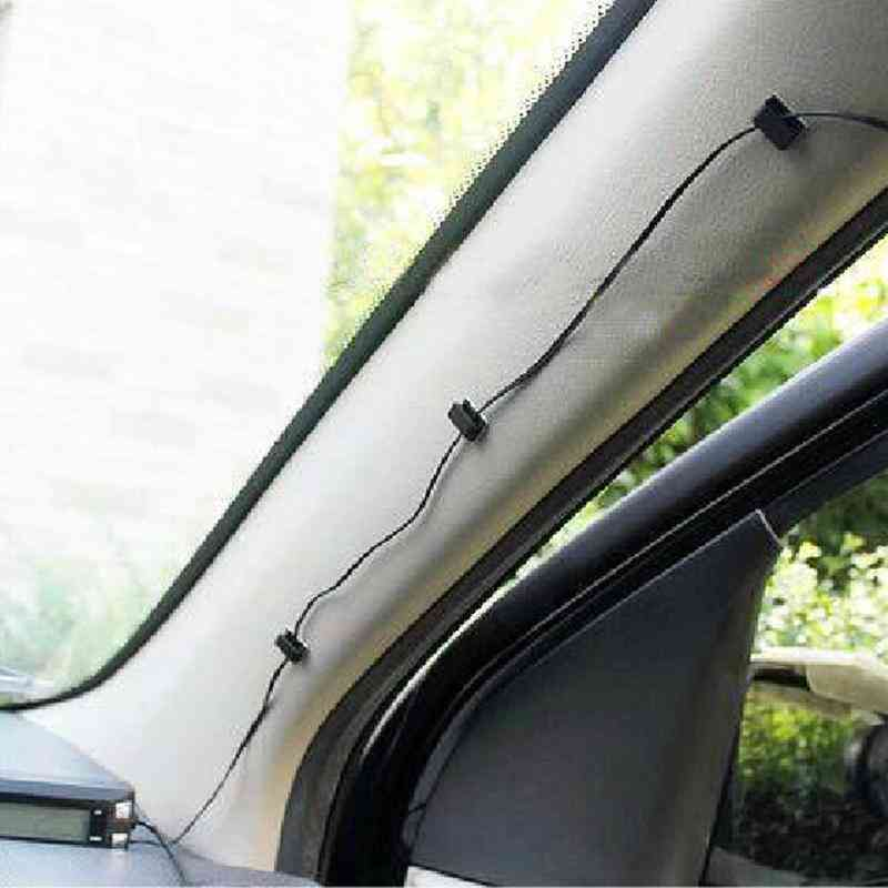 10 Pcs Of Self-adhesive, Snap Design-car Mount Plastic Wire Holder