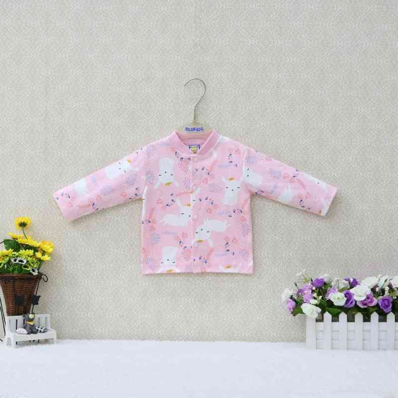 Long Sleeve, Printed Cotton Baby Shirts With Buttons For Spring Or Autumn