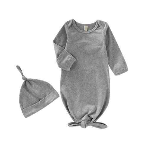 Newborn Baby Girl Cotton Swaddle Wrap Blanket Sleeping Bag Set