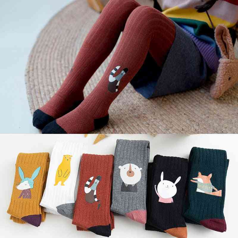 Cartoon Pinted, Autumn/winter- Warm Cotton Stockings For Baby
