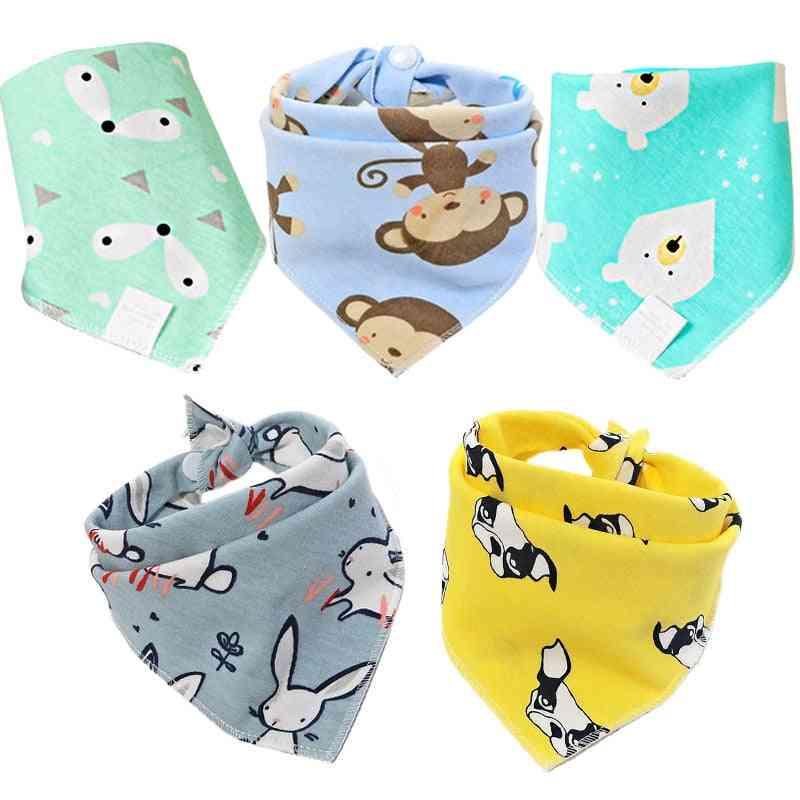 Button Style, Bandana/scarf/bib For Newborn