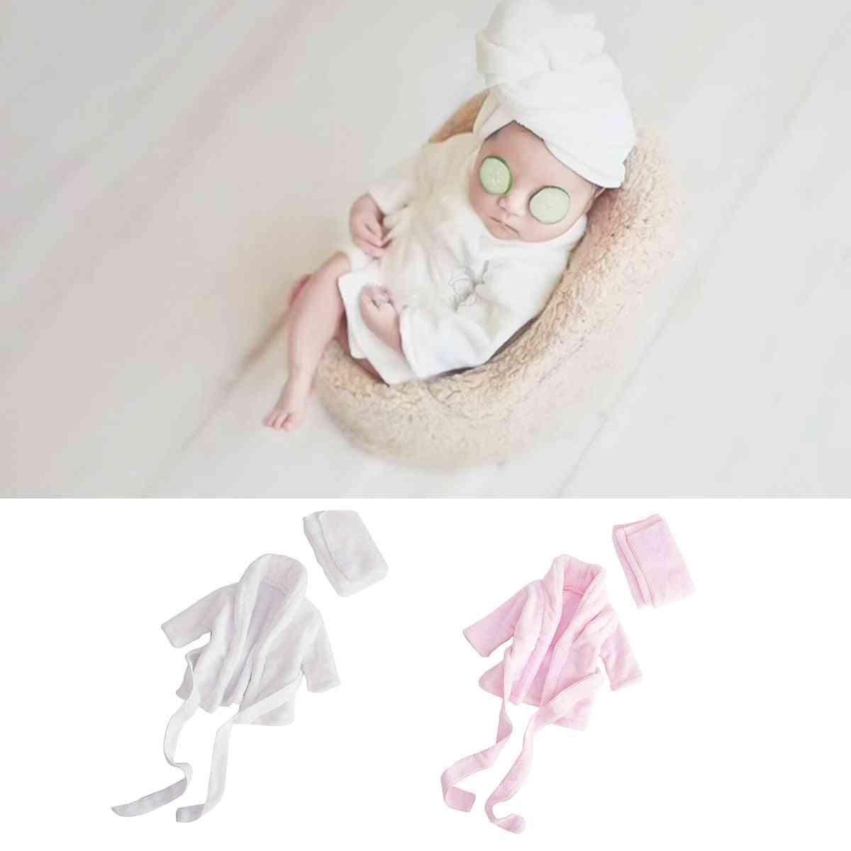 Soft Flannel Bathrobes Newborn Photography Props