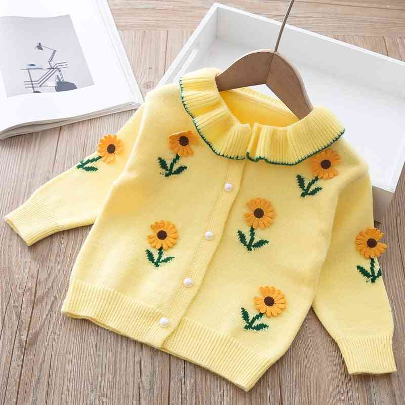 Flower Emboidered, Spring Cardigan/jackets For Baby Girl