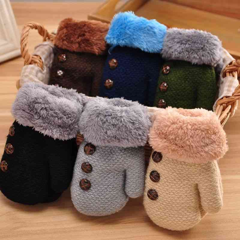 Winter Warm Gloves - Knitted Mittons For Babies