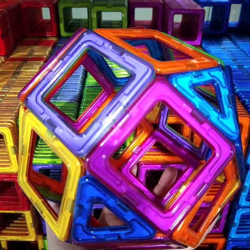 Magnetic Constructor Triangle Square Big Bricks Toy For Childs