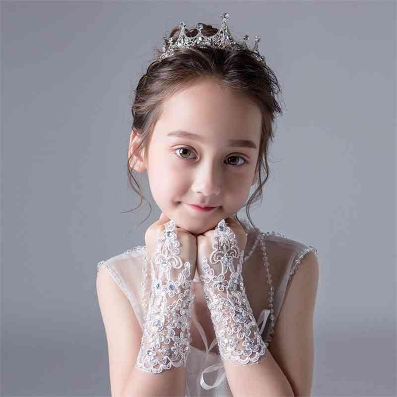 Floral Design, Princess Lace Gloves For Dress