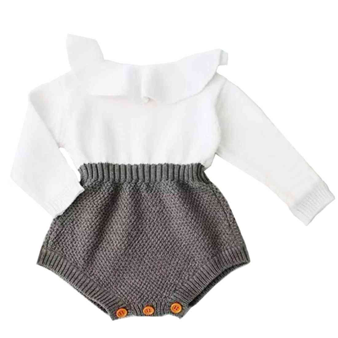 Newborn Baby Girl Clothing Rompers Wool Knitting Tops Long Sleeve Warm Outfits Clothes