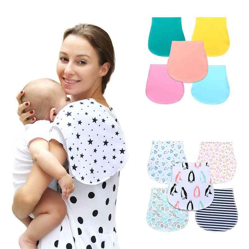 Baby Burp Bibs, Infant Cloths 100% Cotton Three Layers Waterproof Set